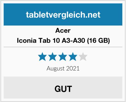 Acer Iconia Tab 10 A3-A30 (16 GB) Test