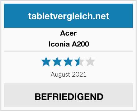 Acer Iconia A200 Test