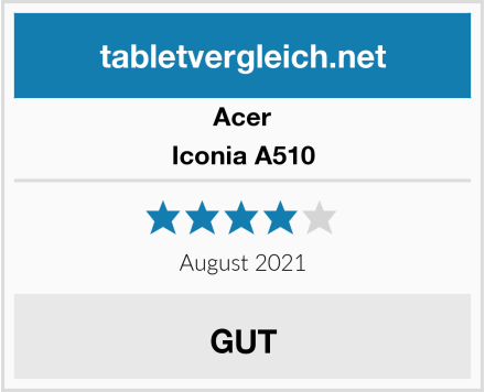Acer Iconia A510 Test