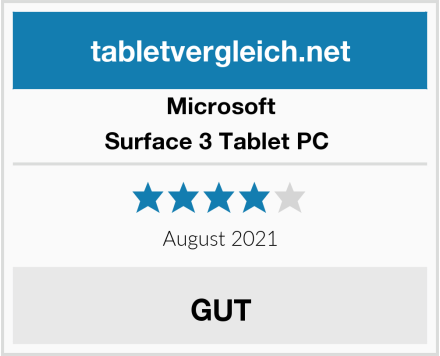 Microsoft Surface 3 Tablet PC  Test