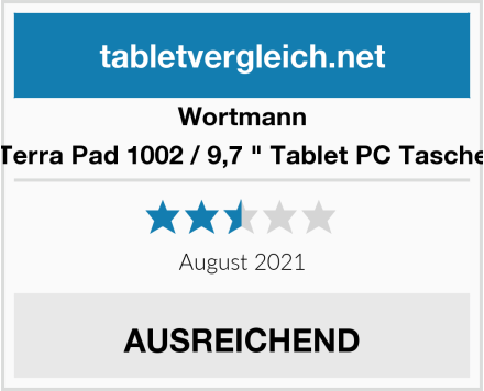 "Wortmann Terra Pad 1002 / 9,7 "" Tablet PC Tasche Test"