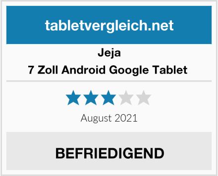 Jeja 7 Zoll Android Google Tablet  Test