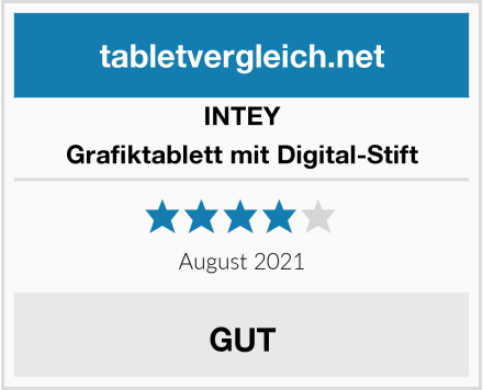 INTEY Grafiktablett mit Digital-Stift Test