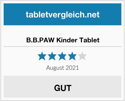B.B.PAW Kinder Tablet Test