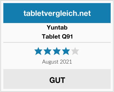 Yuntab Tablet Q91 Test