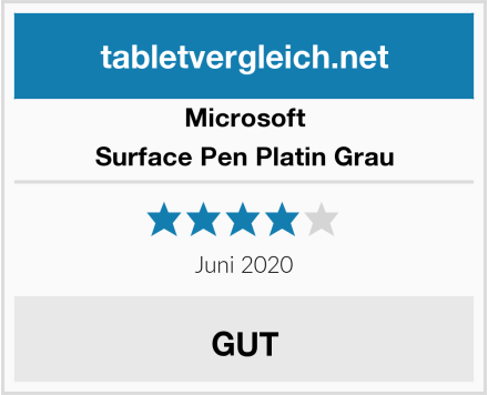 Microsoft Surface Pen Platin Grau Test