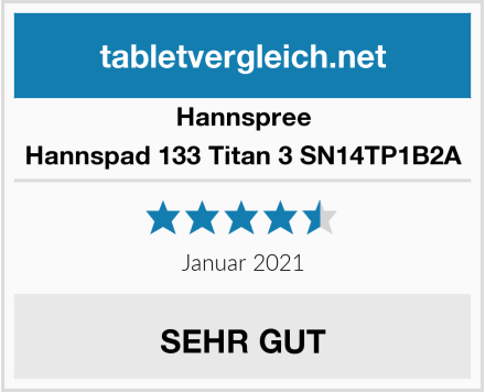 Hannspree Hannspad 133 Titan 3 SN14TP1B2A Test