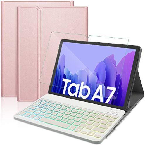 IVSO Tastatur Kompatibel mit Samsung Galaxy Tab A7 10.4 2020